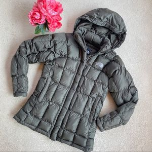 The North Face Olive Green Puffer Jacket